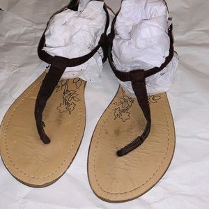 Aeropostale Brown Sandals